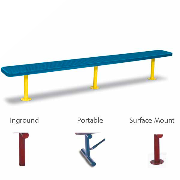 """10 foot and 15 foot Player Outdoor Benches without back - 15"""" Wide Seats - Signature Series"""