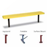 Signature Series 6 foot and 8 foot Player Benches without back – 15″ Wide Seats