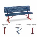 "6' and 8' Player Outdoor Benches with back - 15"" Wide Seats - Signature Series"