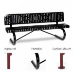 Outdoor Memorial 6 foot Prestige Bench with plaque - Specialty Series