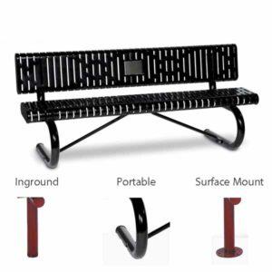 Outdoor Memorial 6 foot Prestige Bench with plaque - Specialty Series