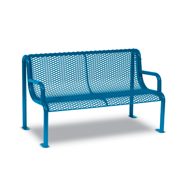 4′ and 6′ Outdoor Benches with Arms – Uptown Series