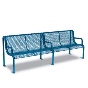 8' Outdoor Benches with Arms - Uptown Series