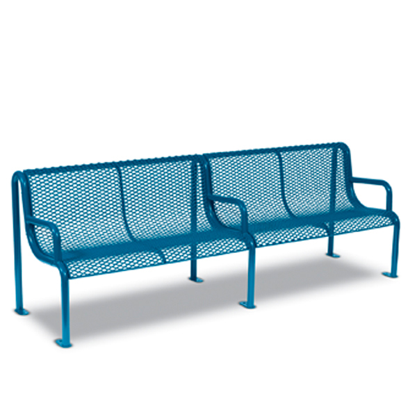 8′ Outdoor Benches with Arms – Uptown Series