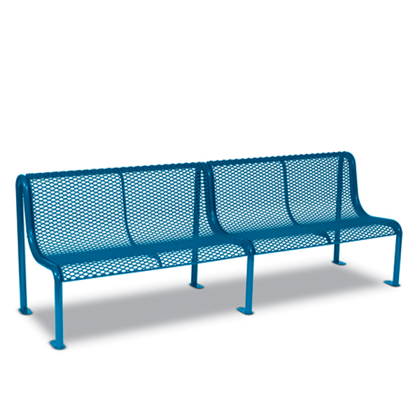 8′ Outdoor Benches without Arms – Uptown Series