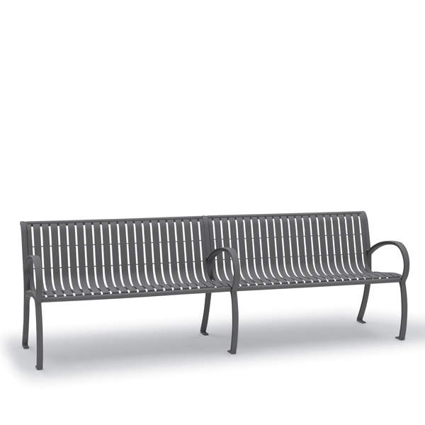 8′ Outdoor Bench with Back, with Arms – Winchester Collection – Portable/Surface Mount