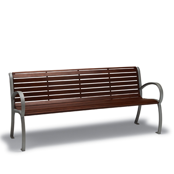 4′ and 6′ Outdoor Benches with Back, with Arms – Winchester Collection – Portable/Surface Mount
