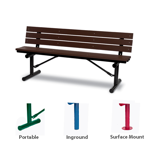 6 foot Outdoor Benches with Back – Green Valley