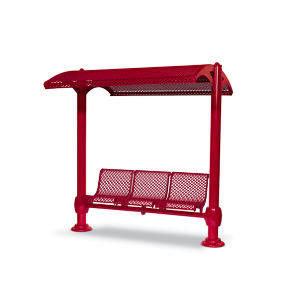 Shelter with 3-Seat Single Bench – Shadeland Series