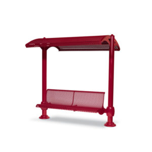 Shelter with 6 foot Single Bench - Shadeland Series