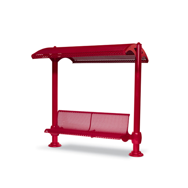 Shelter with 6 foot Single Bench – Shadeland Series