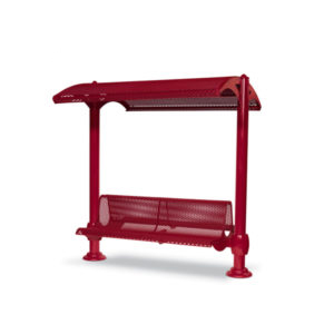 Shelter with 6 foot Double Bench - Shadeland Series