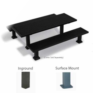 7 foot Rectangular Picnic Table w/ Benches - Kentland Collection - Surface Mount or Inground