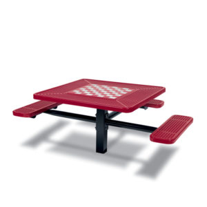 Game Tables - 46 inch Square Signature Style (ADA Accessible) - 3 Seats - Basic Frame - Specialty Series - Inground