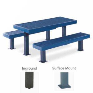 Rectangular 6 foot & 8 foot Picnic Table - Designer Series