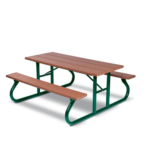 6 foot & 8 foot Picnic Tables – Green Valley – Portable