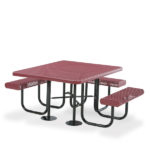 ADA Accessible Portable Square Picnic Table - 3 Seats - Prestige Series