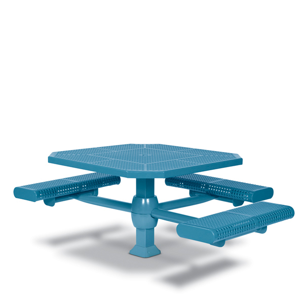 46 inch Octagon ADA Accessible Picnic Table – 3 Seats – Superior Frame – Prestige Series – Inground