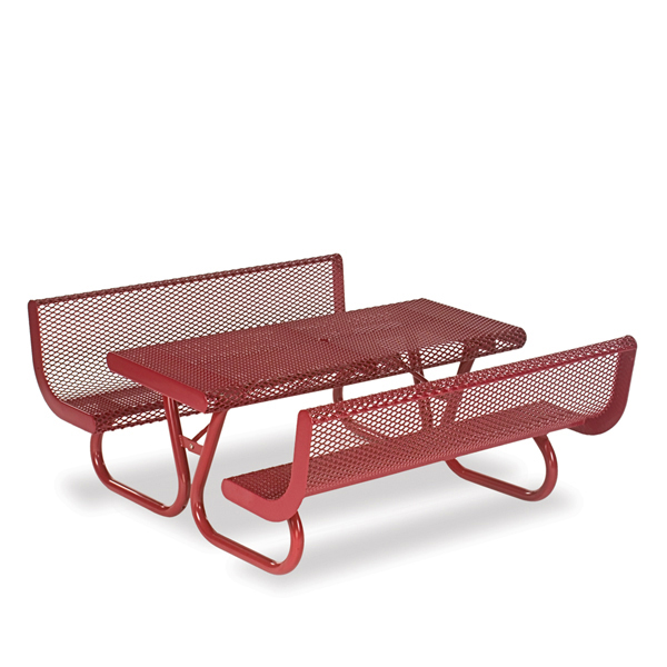 4 foot & 6 foot Picnic Tables with Back – Prestige Series – Portable