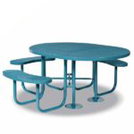 Round - ADA Accessible 3- Seat Picnic Table - Signature Series - Portable