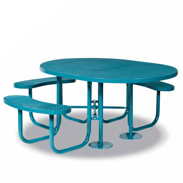 Round – ADA Accessible 3- Seat Picnic Table – Signature Series – Portable