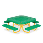 Children's Square 46 inch Alphabet Portable Picnic Table - Signature Series