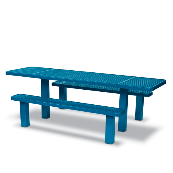 Picnic Table 8 foot ADA Accessible Table Multi Pedestal – Signature Series – Inground
