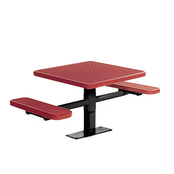 30″ Square Picnic Table with 2 Seats – Signature Series – Surface Mount