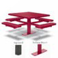 46 inch & 40 inch Square Pedestal Picnic Tables with 4 Seats – Basic Frame – Signature Series – Inground or Surface Mount