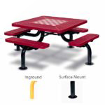 Game Tables - 46 inch Square Spyder Style - Specialty Series