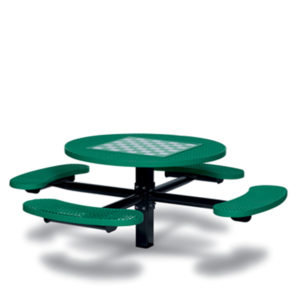 Game Tables - 46 inch Round Signature Style - 4 Seats - Basic Frame - Specialty Series - Inground