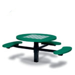 Game Tables - 46 inch Round Signature Style (ADA Accessible) - 3 Seats - Basic Frame - Specialty Series - Inground