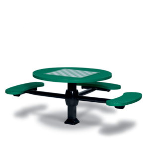 Game Tables - 46 inch Round Signature Style (ADA Accessible) - 3 Seats - Superior Frame - Specialty Series -Inground