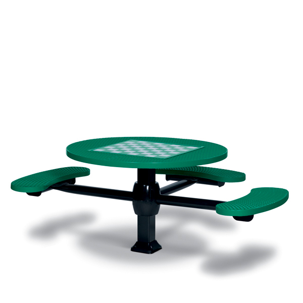 Game Tables – 46 inch Round Signature Style (ADA Accessible) – 3 Seats – Superior Frame – Specialty Series -Inground