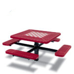 Game Tables - 46 inch Square Signature Style - 4 Seats - Basic Frame - Specialty Series -  Inground
