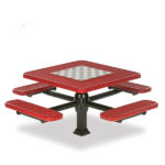 Game Tables - 46 inch Square Signature Style - 4 Seats - Superior Frame - Specialty Series - Inground