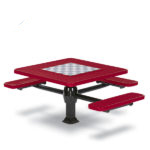 Game Tables - 46 inch Square Signature Style (ADA Accessible) - 3 Seats - Superior Frame - Specialty Series - Inground