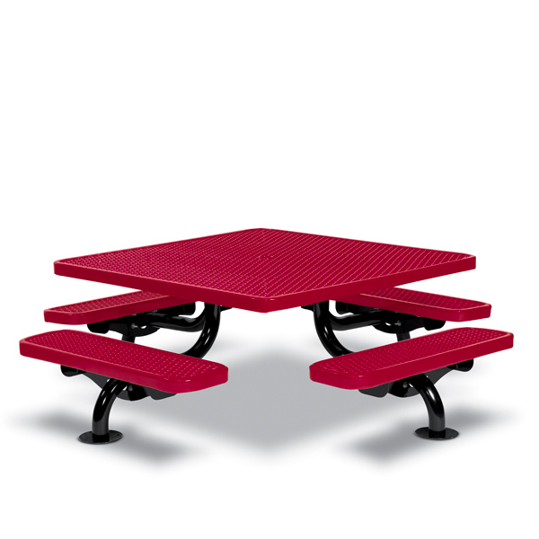 Children's 46 inch Square Picnic Table – Spyder Series – Portable/Surface Mount