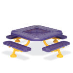 Children's 46 inch Square Alphabet Picnic Table - Spyder Series - Portable/Surface Mount