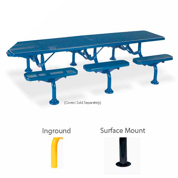 Picnic Table – 11 foot – Spyder Series – Portable/Surface Mount or Inground