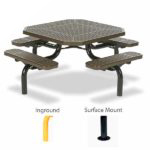 46 inch Octagon Picnic Table - Spyder Series - Portable/Surface Mount or Inground