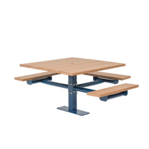Square Picnic Table 2 & 3 Seat - Green Valley - Inground or Surface Mount