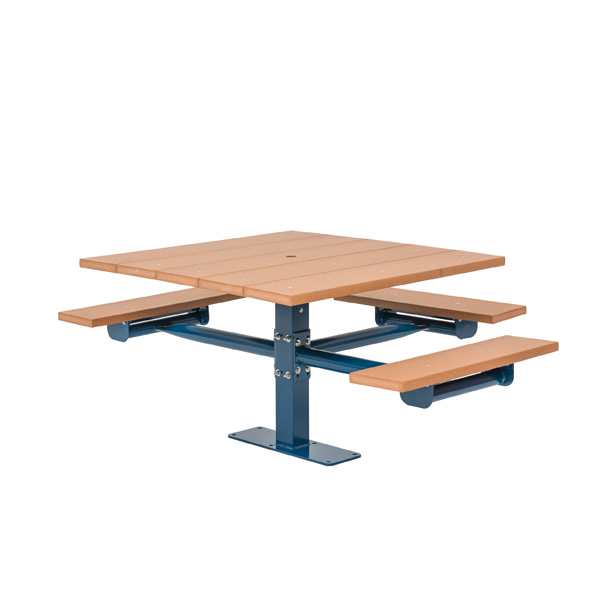 Square Picnic Table 2 & 3 Seat – Green Valley – Inground or Surface Mount