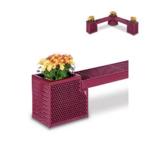 Outdoor Bench/Planter - End Planter Only - Designer Series