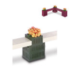 Outdoor Bench/Planter - Straight Connector Planter Only - Designer Series