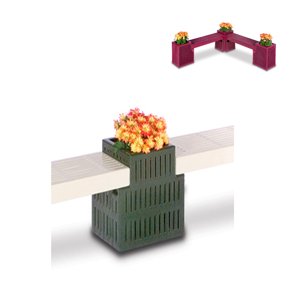 Outdoor Bench/Planter – Straight Connector Planter Only – Designer Series
