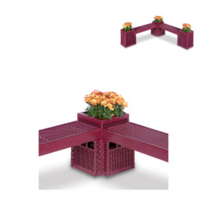 Outdoor Bench/Planter - Corner Connector Planter Only - Designer Series
