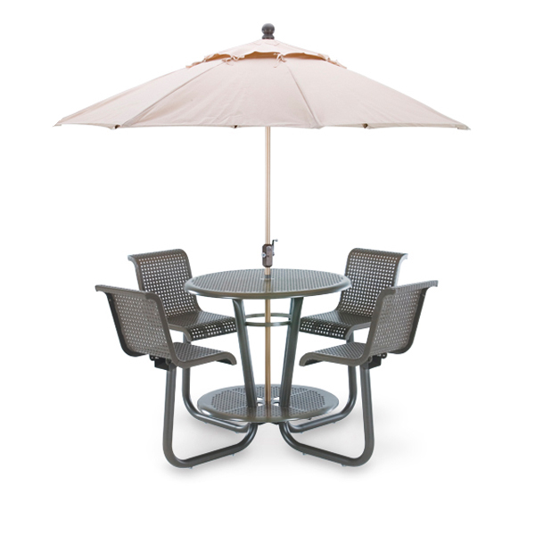 42 inch Bar Height Outdoor Picnic Table with Chairs – Camino Series – Portable