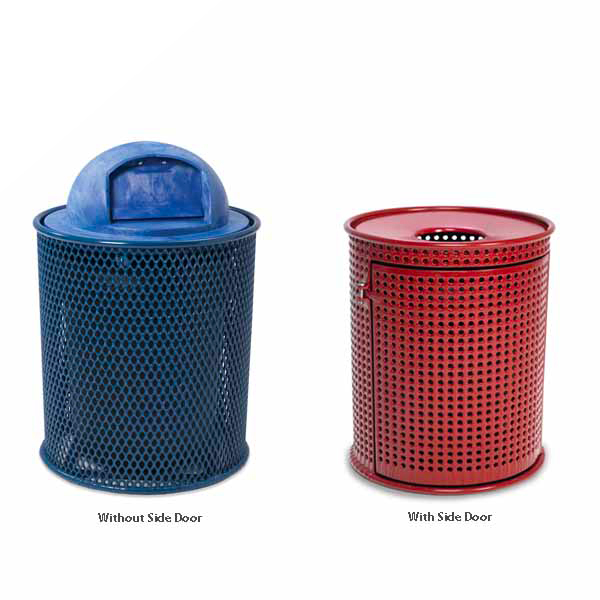 Plastisol Coated Outdoor Trash Receptacles – Classic Collection