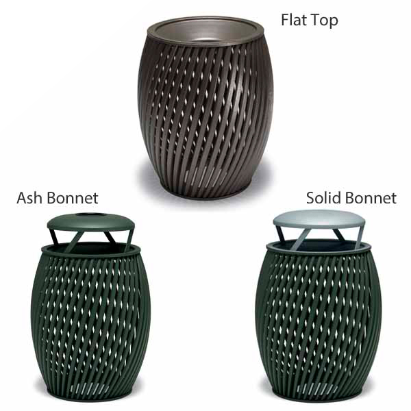 "Elegance – ""A"" Style 32 Gallon Outdoor Trash Receptacle with Liner"